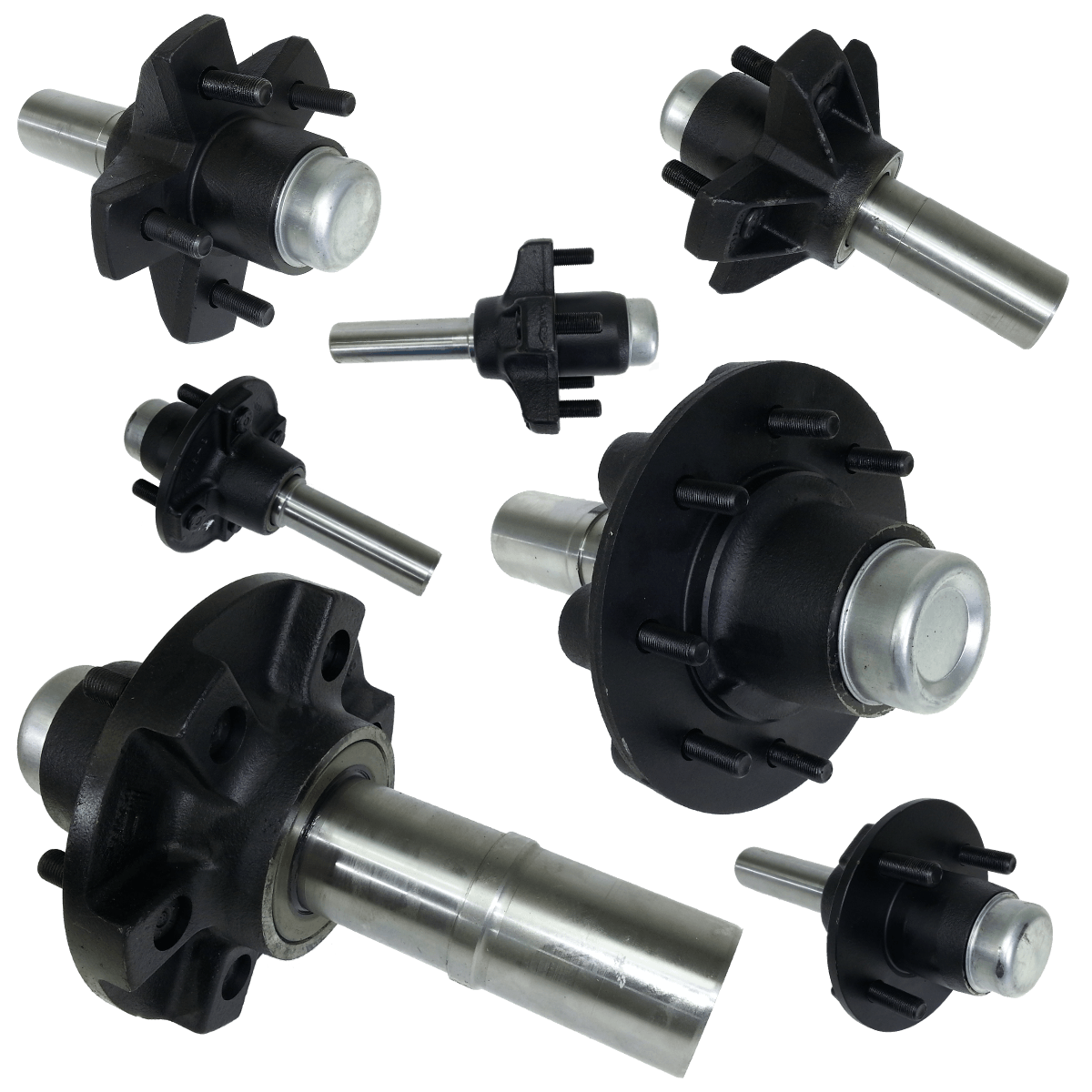 Trailer Hubs And Spindles : Hub spindle assemblies dl parts for trailers inc