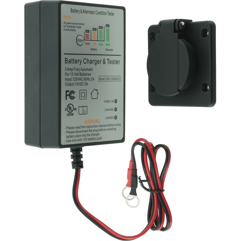 12 Volt 5amp Battery Charger For Dump Trailers