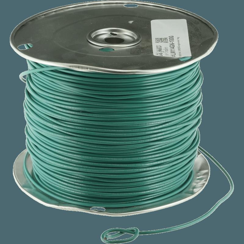 Green 14g Multi Strand Single Primary Copper Wire